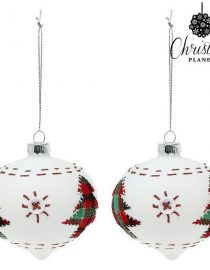 xekios Boules de Noël Christmas Planet 1990 (2 uds) Verre Blanc