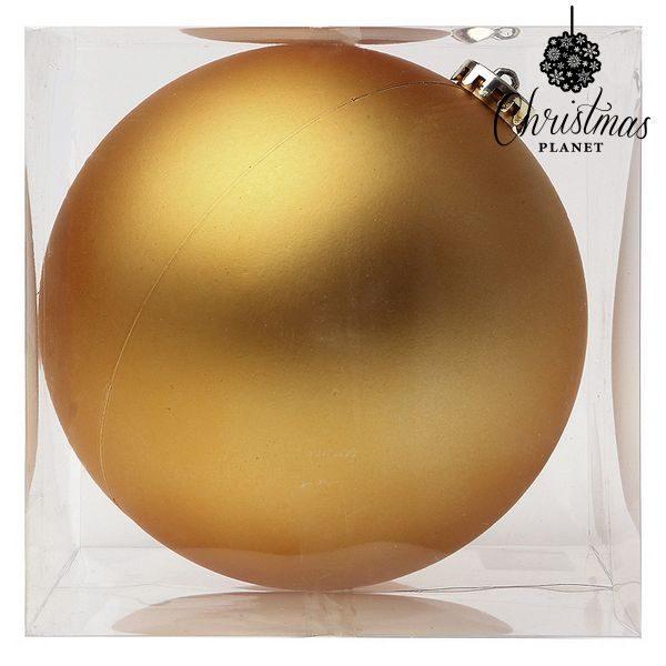 xekios Boule de Noël Christmas Planet 8859 15 cm Verre Doré