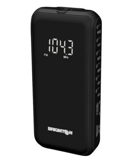 xekios Radio numérique portable BRIGMTON BT-124-N Micro SD Noir