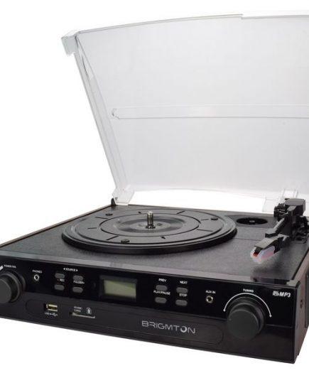 xekios Tourne-disque + Enregistreur Cassette BRIGMTON BTC-406REC USB SD / MMC