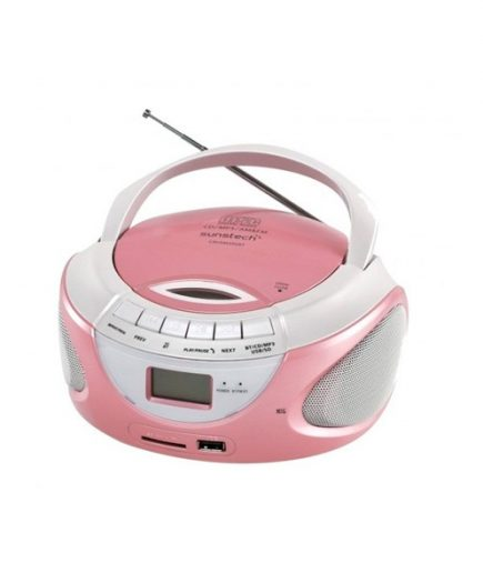 xekios Radio-CD Bluetooth MP3 Sunstech CRUSM395BT USB SD Rose