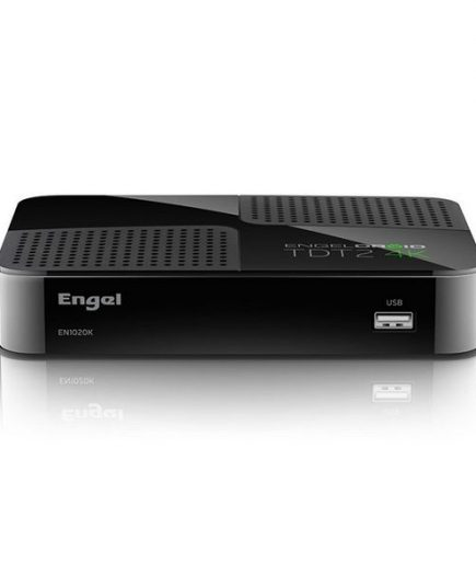 xekios Adapteur de TV intelligente Engel EN1020K 4K Full HD TDT Wifi Noir