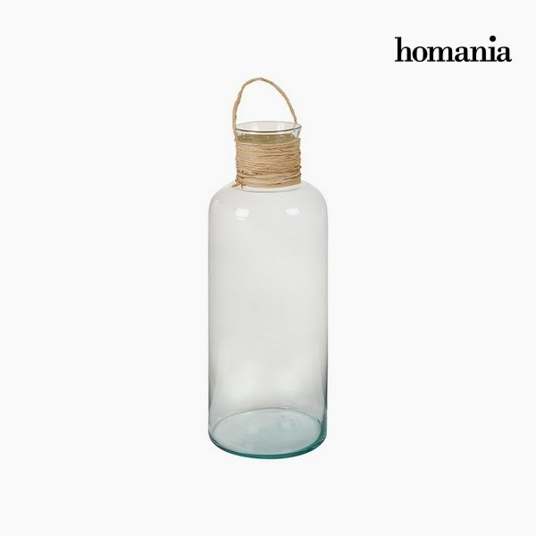 xekios Vase en Verre Recyclé Verre recyclé Transparent (19 x 19 x 48 cm) by Homania