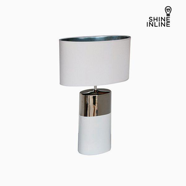 xekios Lampe de bureau Argent Blanc (44 x 22 x 68 cm) by Shine Inline