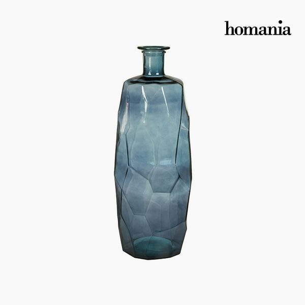 xekios Vase en Verre Recyclé (27 x 27 x 75 cm) - Collection Pure Crystal Deco by Homania