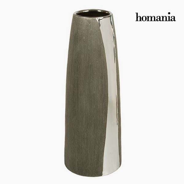 xekios Vase Céramique Argent Noir - Collection Serious Line by Homania