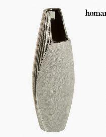 xekios Vase Céramique Argent - Collection Queen Deco by Homania