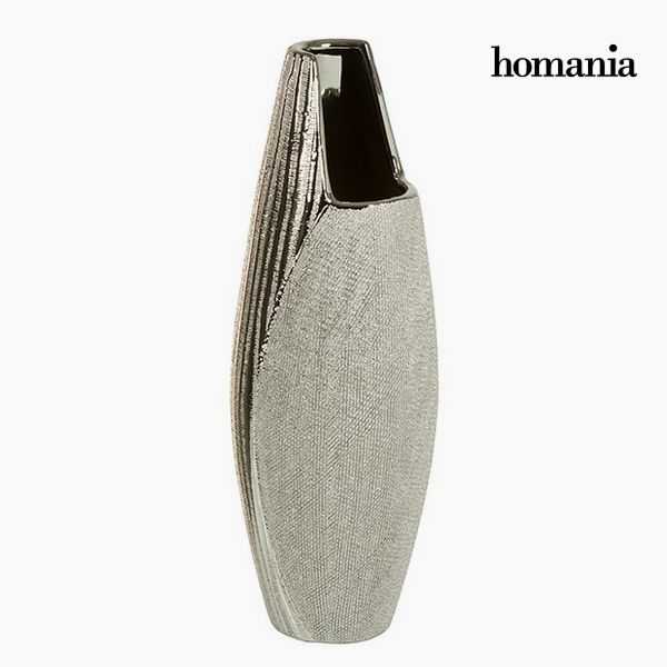 xekios Vase Céramique Argent - Collection Queen Deco by Homania