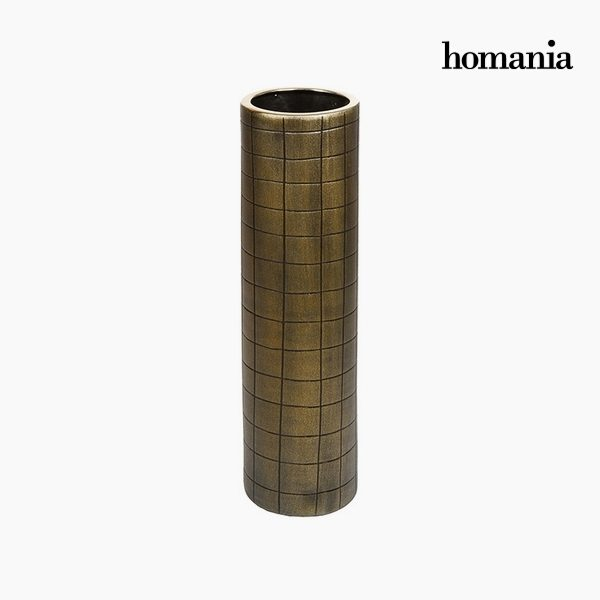 xekios Vase Céramique Or (16 x 16 x 59 cm) by Homania