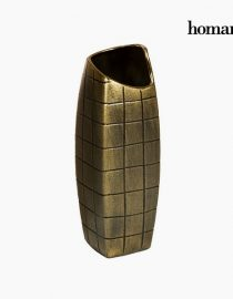 xekios Vase Céramique Argent (16 x 16 x 59 cm) by Homania