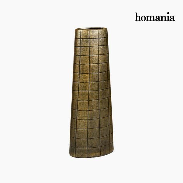 xekios Vase Céramique Or (19 x 10 x 51 cm) by Homania