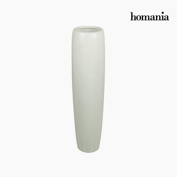 xekios Vase de sol Céramique Blanc (21 x 21 x 83 cm) by Homania