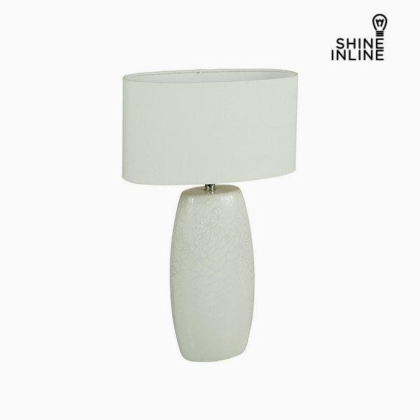 xekios Lampe de bureau Blanc Céramique (14 x 9 x 26 cm) by Shine Inline