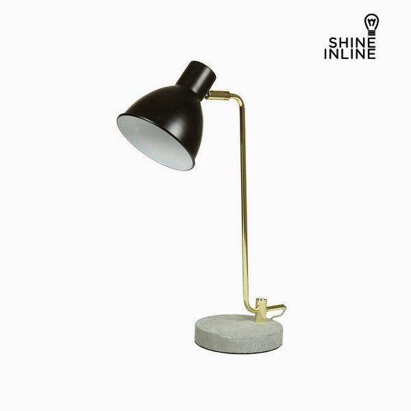 xekios Lampe de bureau Noir Aluminium Béton (30 x 15 x 46 cm) by Shine Inline