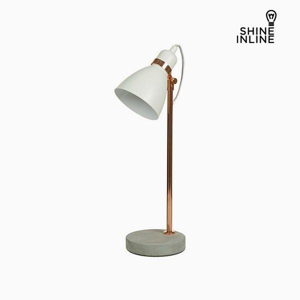 xekios Lampe de bureau Blanc Aluminium Béton (22 x 15 x 50 cm) by Shine Inline