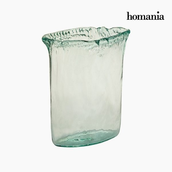 xekios Vase Verre recyclé Transparent (26 x 11 x 34 cm) by Homania