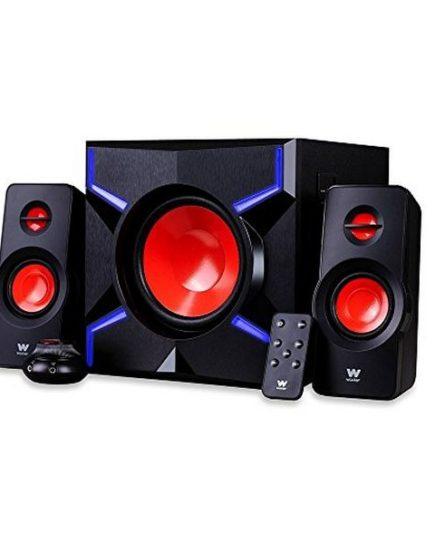 xekios Haut-parleurs 2.1 Woxter Big Bass 260 FX Gaming 150W LED Noir Rouge