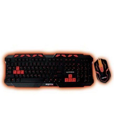 xekios Clavier et Souris Gaming approx! APPCOMBOO1 QWERTY USB Rétro-éclairé Noir Rouge
