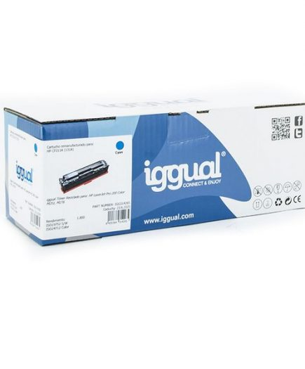 xekios Toner recyclé iggual IGG314265 HP 131X CF212X Cyan