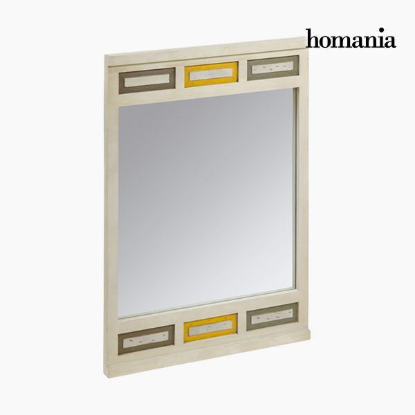xekios Miroir Carré Beige - Collection Tree Leaves by Homania