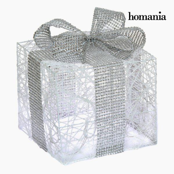xekios Boîte avec lumières Fer Coton Blanc Argent by Homania