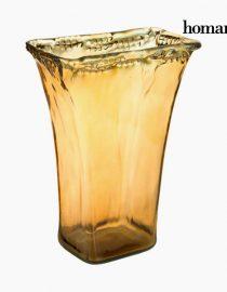 xekios Pièce centrale en verre recyclé Ambre - Collection Crystal Colours Deco by Homania