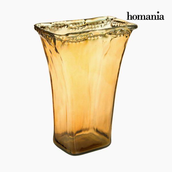 xekios Vase en Verre Recyclé Ambre - Collection Pure Crystal Deco by Homania