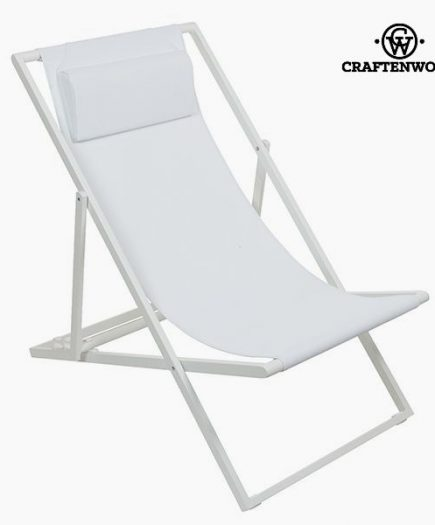 xekios Chaise de jardin Aluminium Textilène Blanche by Craftenwood