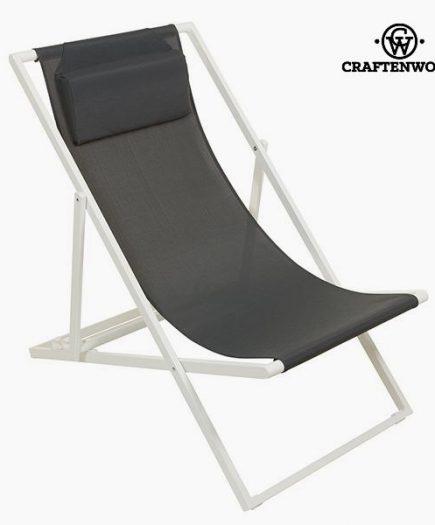 xekios Chaise de jardin Aluminium Textilène Gris by Craftenwood