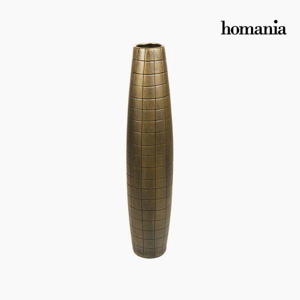 xekios Vase de sol Céramique Or (17 x 17 x 80 cm) by Homania