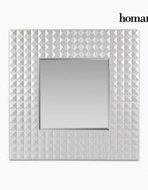 xekios Miroir Résine synthétique Vere biseauté Blanc (99 x 5 x 99 cm) by Homania