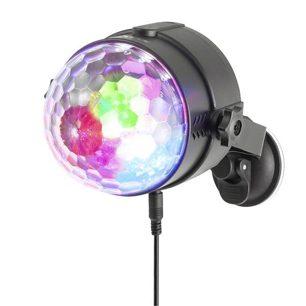 xekios Mini boule à facettes NGS Spectra Rave USB 18W