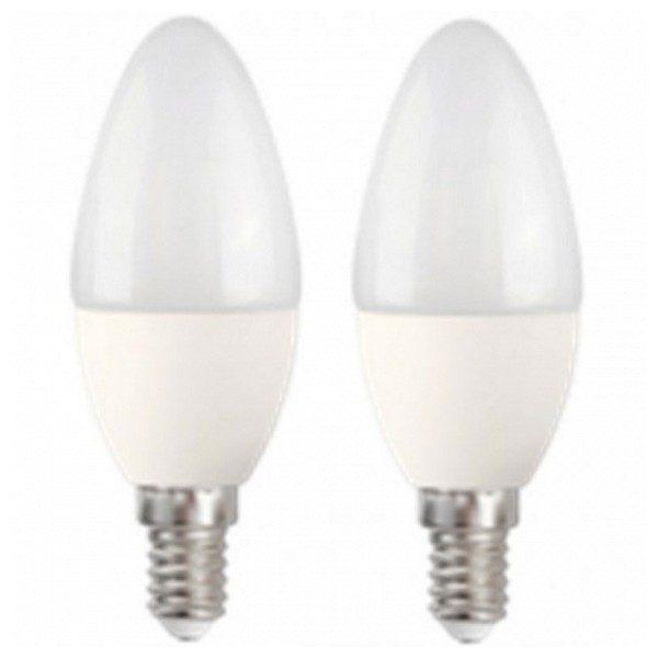 xekios Ampoule LED Bougie MegaLed CF-50WP2 5W E14 2700K 390 lm (2 pcs) Blanc