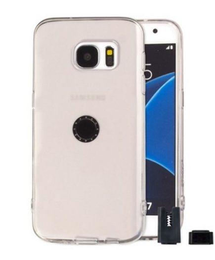 xekios Protection pour téléphone portable STIKGO STIK00018 Samsung S7 Edge CarClip TPU Transparent
