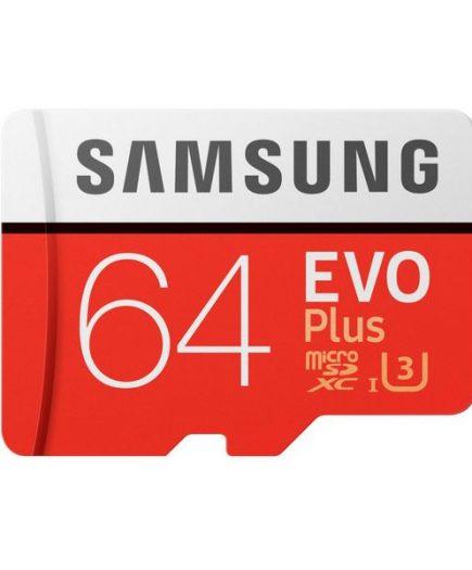 xekios Carte Micro SD Samsung EVO Plus MB-MC64G 64 GB Rouge Blanc