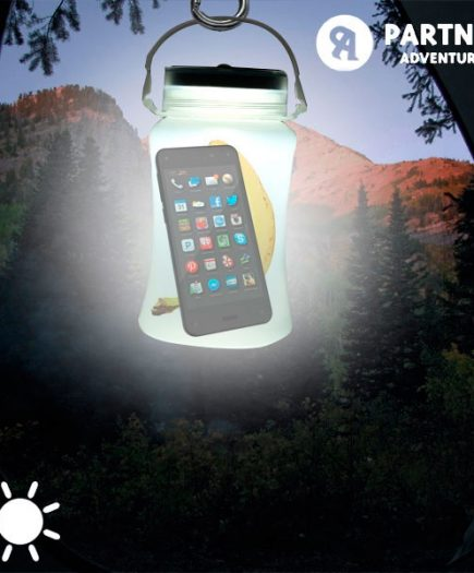 xekios Bidon LED Solaire en Silicone Partner Adventures
