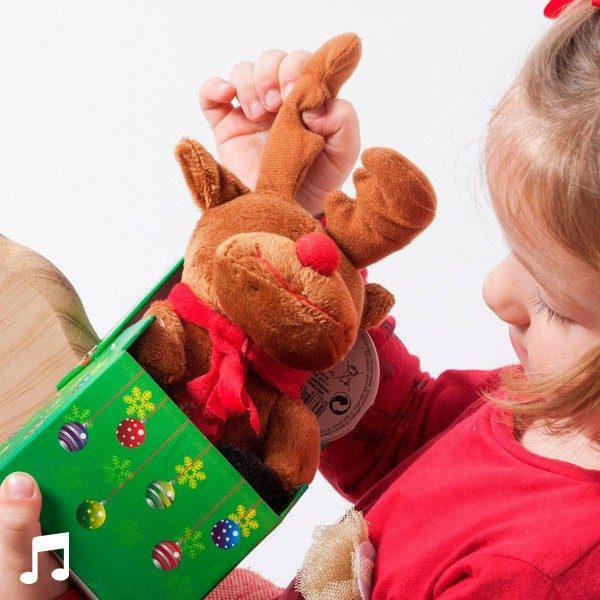 xekios Peluche de Noël Musicale dans sa Boîte Décorative
