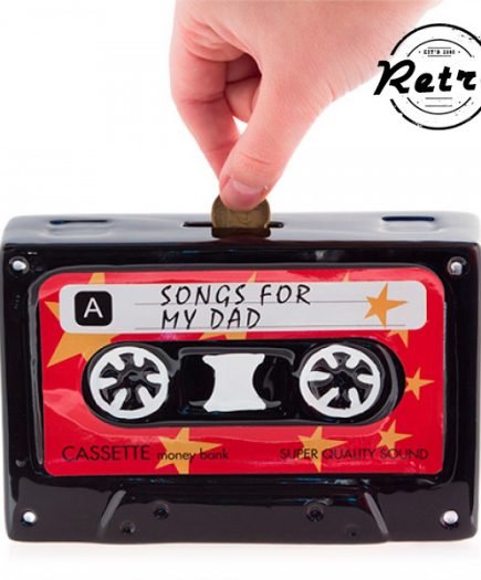 xekios Tirelire Céramique Cassette Retro