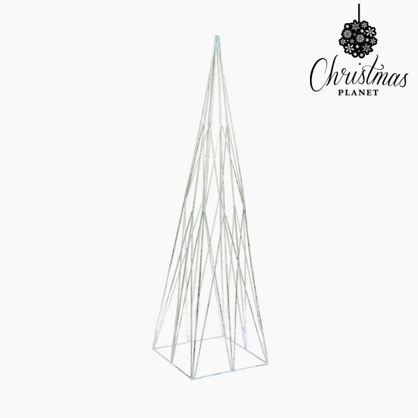 xekios Sapin de Noël Fer Argenté (14 x 14 x 50 cm) by Christmas Planet