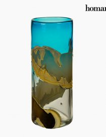 xekios Vase Verre (12 x 12 x 30 cm) - Collection Pure Crystal Deco by Homania