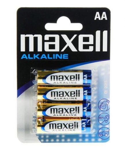 xekios Piles Alcalines Maxell 1.5V AA PK4 AA 1,5 V