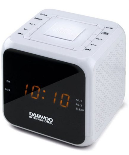 xekios Radio-réveil Daewoo DCR-450 Blanc