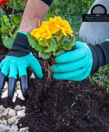 xekios Gants de Jardinage avec 4 Griffes pour Creuser Garden & Greenhouse