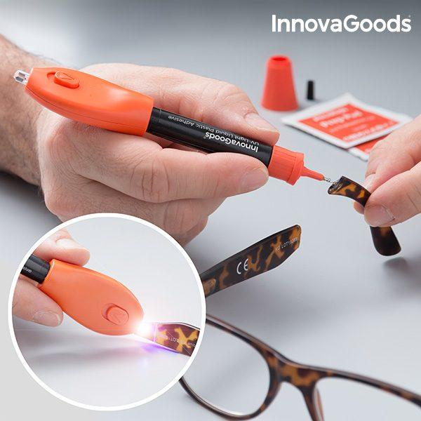 xekios Plastique Liquide de Soudage Rapide avec Lumière UV InnovaGoods