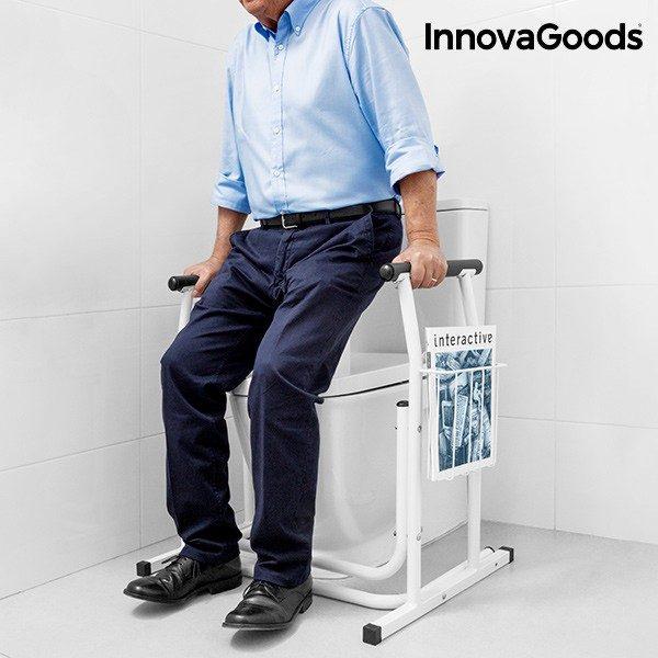 xekios Support de Sécurité avec Porte-Magazines pour Toilettes InnovaGoods