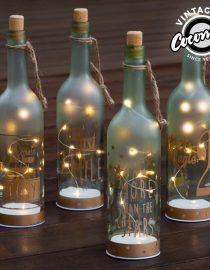 xekios Pot en Verre avec LED Vintage Coconut