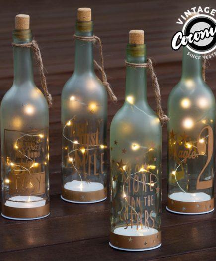xekios Bouteille en Verre avec LED Vintage Coconut