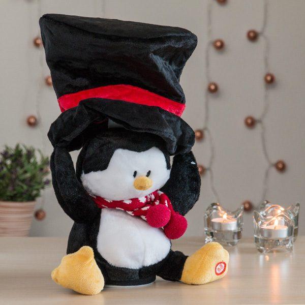 xekios Peluche de Noël avec Son et Mouvement