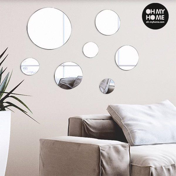 xekios Miroirs Adhésifs Geometry Oh My Home (pack de 7)