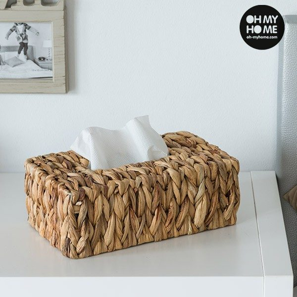 xekios Boîte à Mouchoirs en Feuille de Maïs Oh My Home